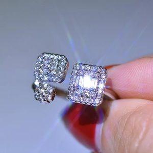 New 18k white gold Zircon adjustable ring